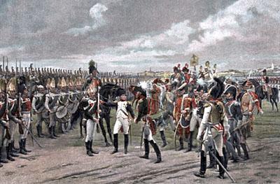 Наполеон обходит строй